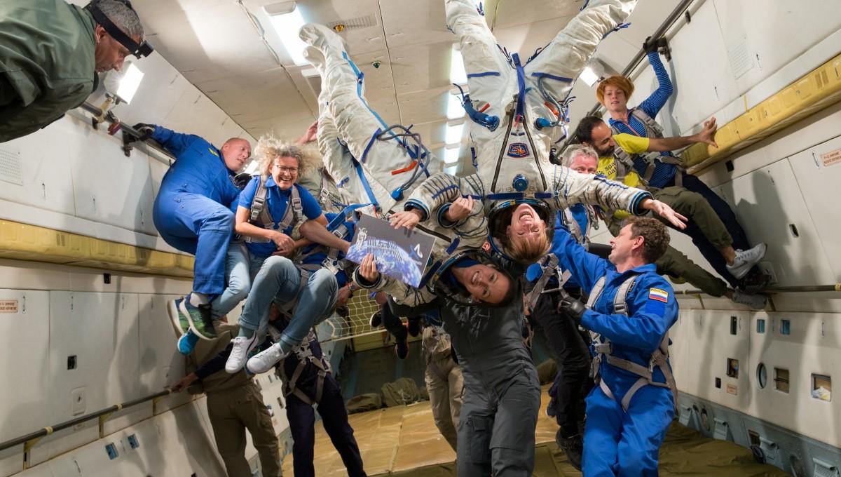 Parabelflug Astronautin Insa Thiele-Eich