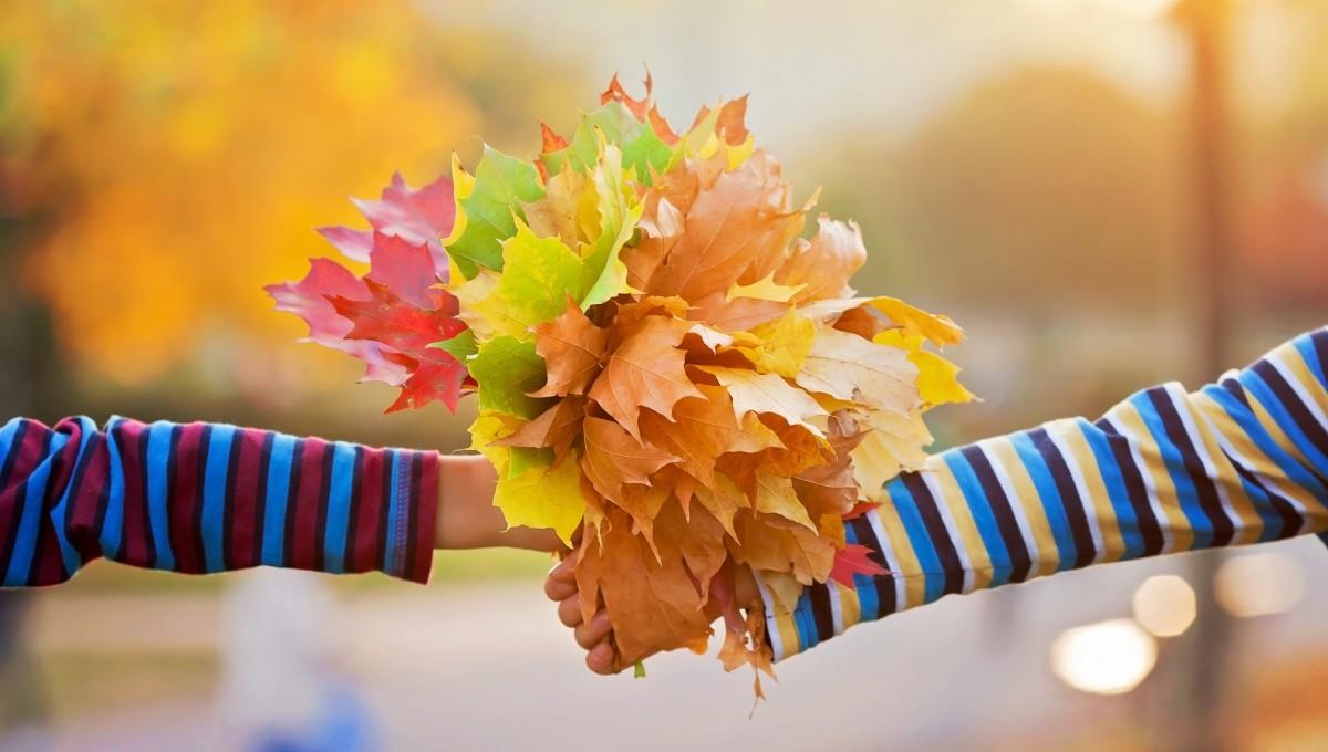 Bunter Strauß aus Blättern
