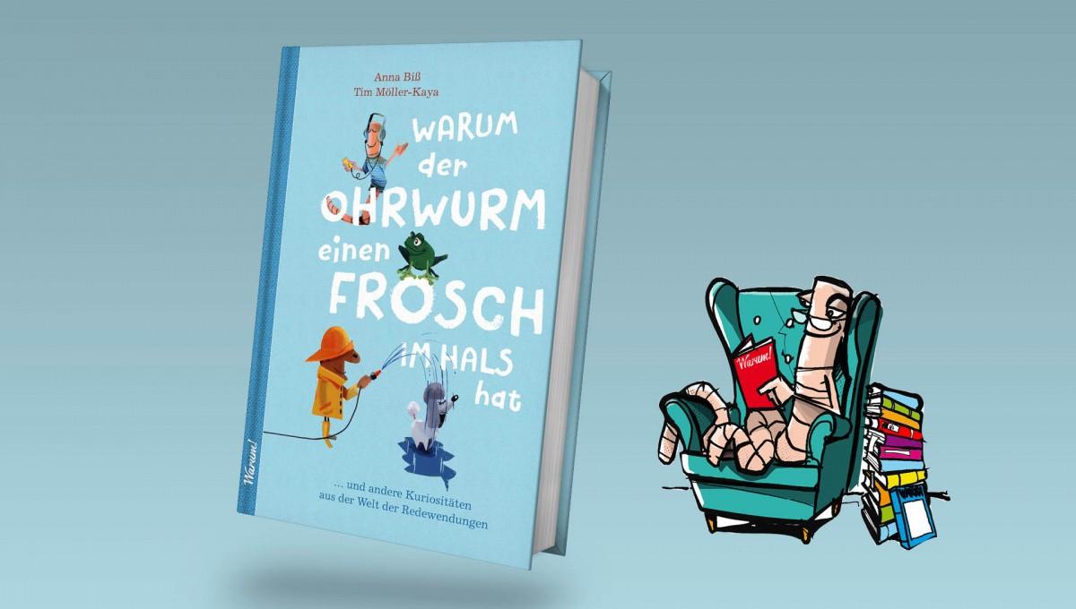 Buchcover neben Ohrwurm