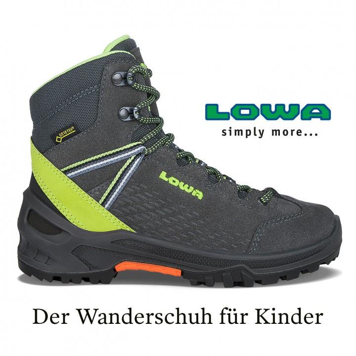 Lowa Kinderschuh ARCO GTX® MID JUNIOR Wanderschuh Schuh Kinderarzt bequem Kinder Wandern Bergsteiger gesund bequem