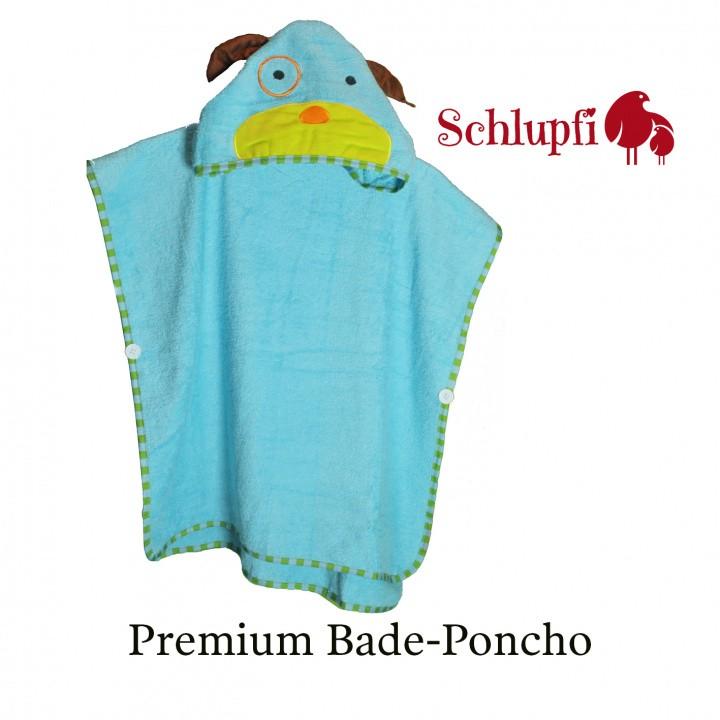 Schlupfi Premium Bade-Poncho für Jungen und Mädchen: Kinder-Handtuch mit Kapuze für Kleinkind oder Baby - Kapuzenhandtuch mit Tiermotiv