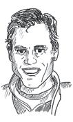 Zeichnung eines Porträts von Ballonpilot Jörg Freese