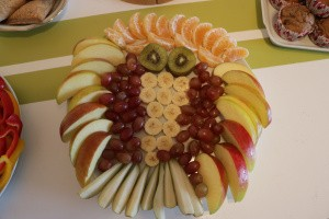 Rohkosteule mit Obst