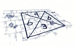 """Straßenspiel """"Kreide-Quadrat"""""""