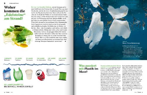 Heftseite zum Thema Fundstücke aus dem Meer