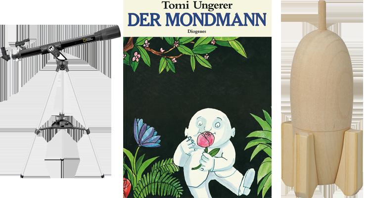 """Gewinnspiel-Paket """"Der Mondmann"""""""