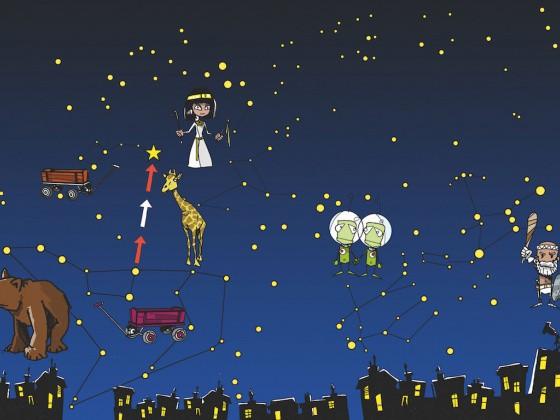 Illustration Sternenhimmel im Winter