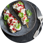 Gemüse grillen: Aubergine mit Sesampaste direkt aus dem Feuer
