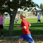 Junge beim Marathon