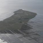 Luftaufnahme der Hallig Nordstrandischmoor
