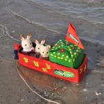 Schiffchen aus Tetrapak gebastelt