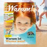 Warum!-Cover 2/2018 auf sommerlichem Hintergrundbild