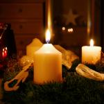 Adventskranz am dritten Advent