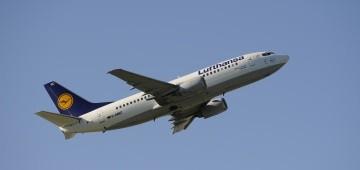 Boeing 737 von Lufthansa beim Start