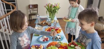 Salat-Bar für Kinder
