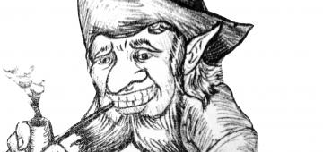 Zeichnung eines Klabautermannes