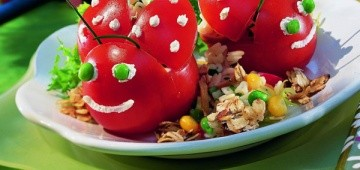 Tomatenkäfer mit Gemüse-Füllung