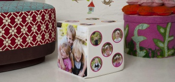 Foto-Sitzwürfel für Kinder von Fotokasten