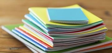 Schulmaterial aus Recyclingpapier