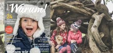 Warum!-Ausgabe 4/2016 auf winterlichem Hintergrund