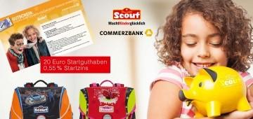 Verlosung: Commerzbank- und Scout-Schulpaket