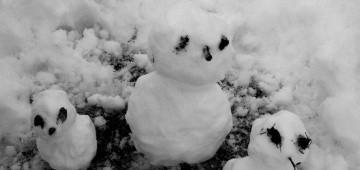 Drei Schneemänner